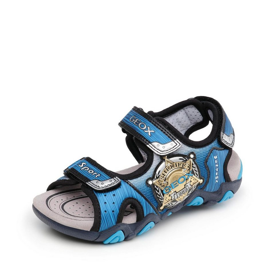 Geox Strike Sandale in blau/schwarz
