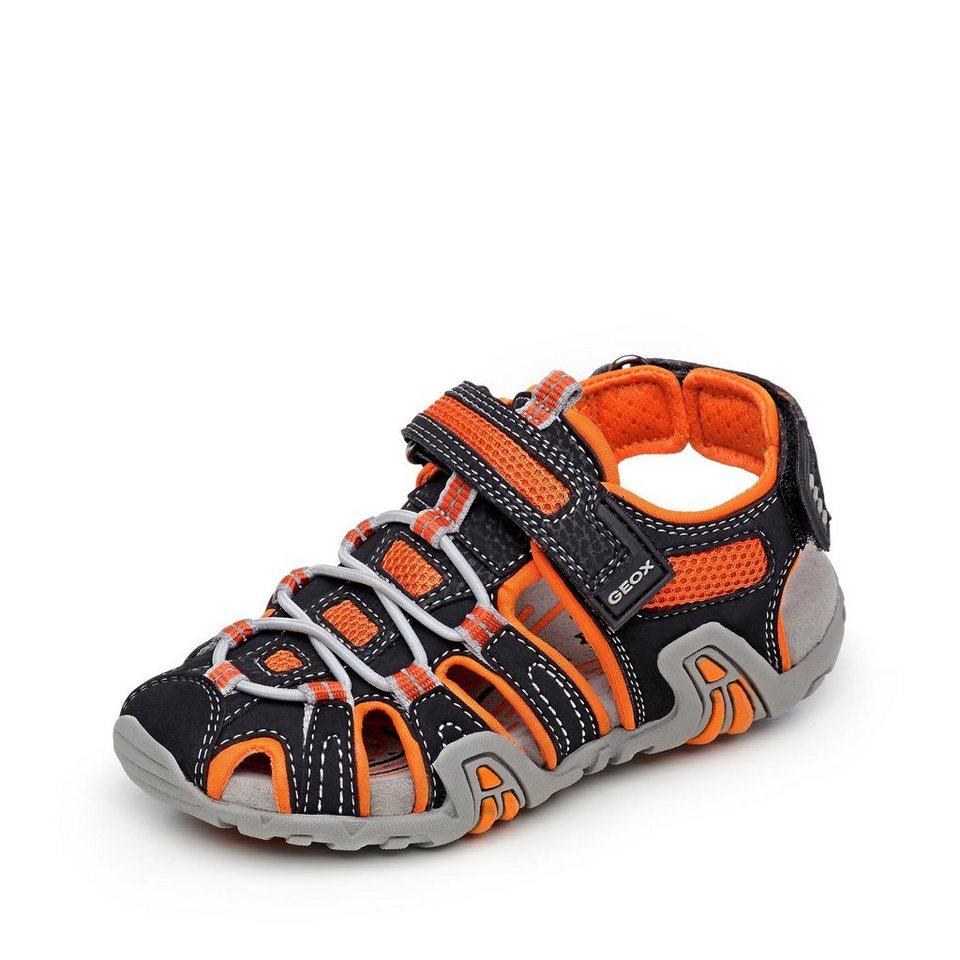 Geox Kraze Sandale in schwarz/neonorange