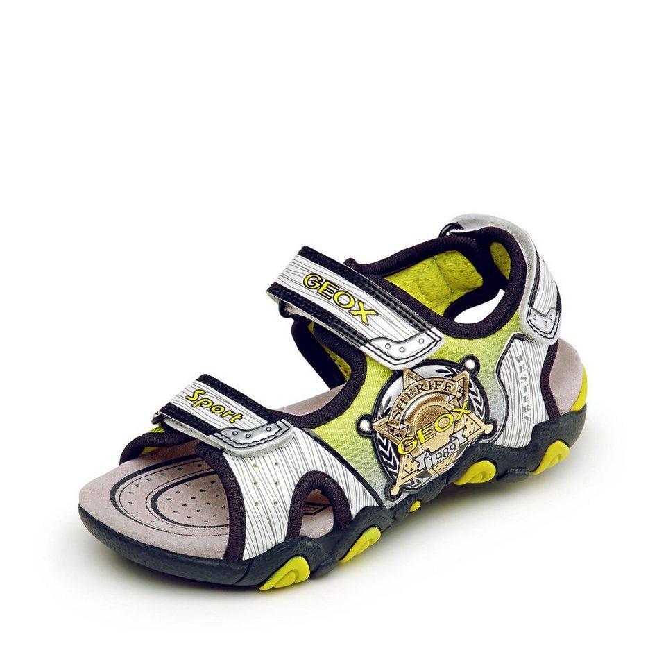 Geox Strike Sandale in weiß/neongrün