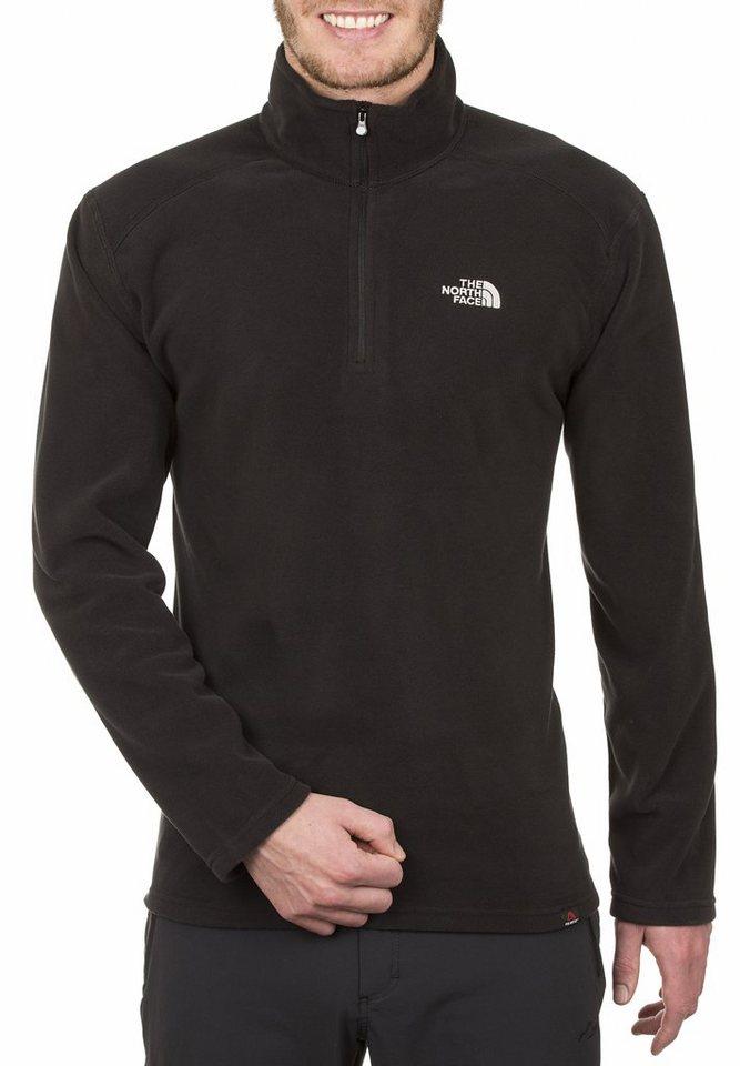 The North Face Pullover »100 Glacier Fleece 1/4 Zip Men« in schwarz