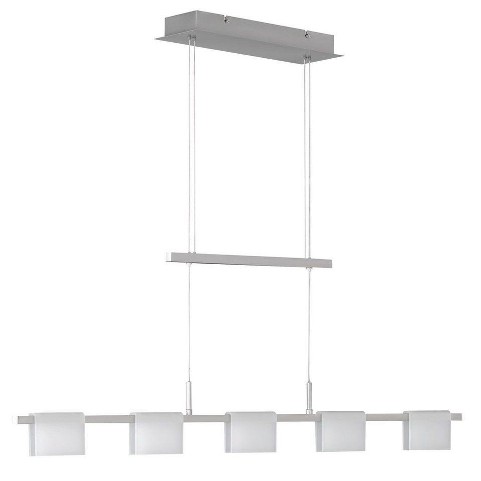 Honsel Leuchten LED-Pendelleuchte, 5flg., »LIENZO« in Metall, nickel-matt