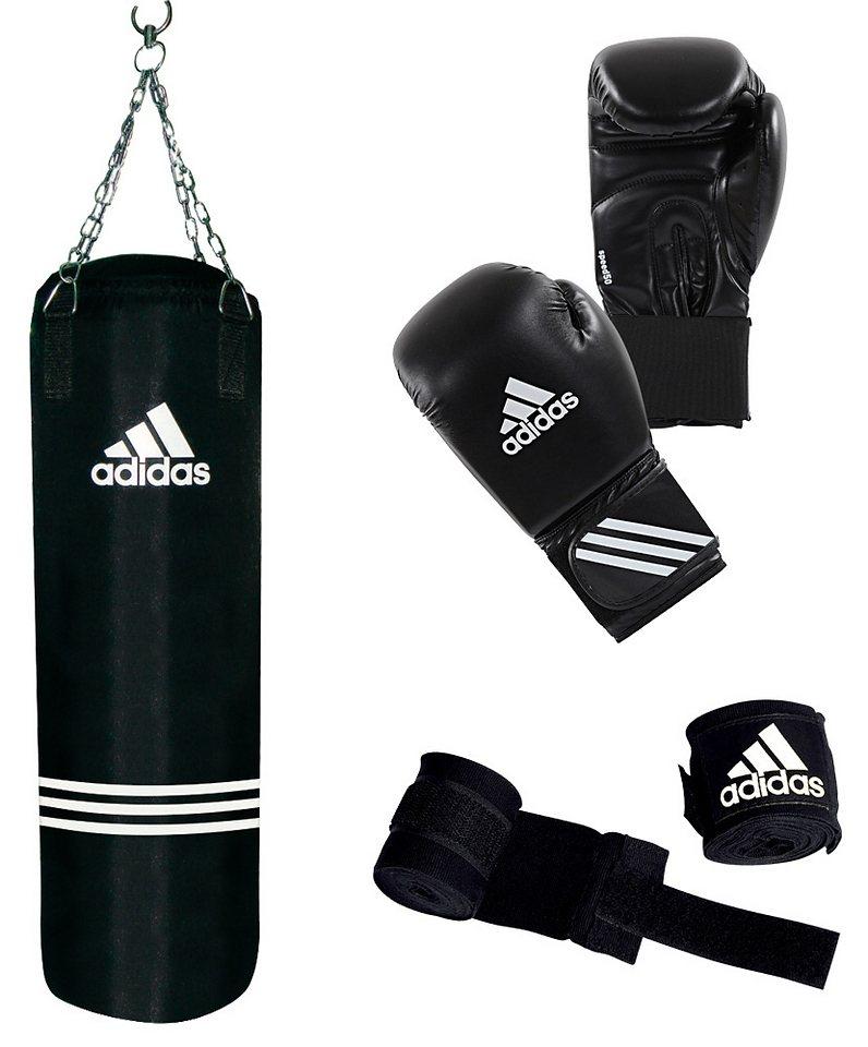 Adidas Performance Set: Boxsack und Boxhandschuhe, »Performance Boxing Set« in schwarz