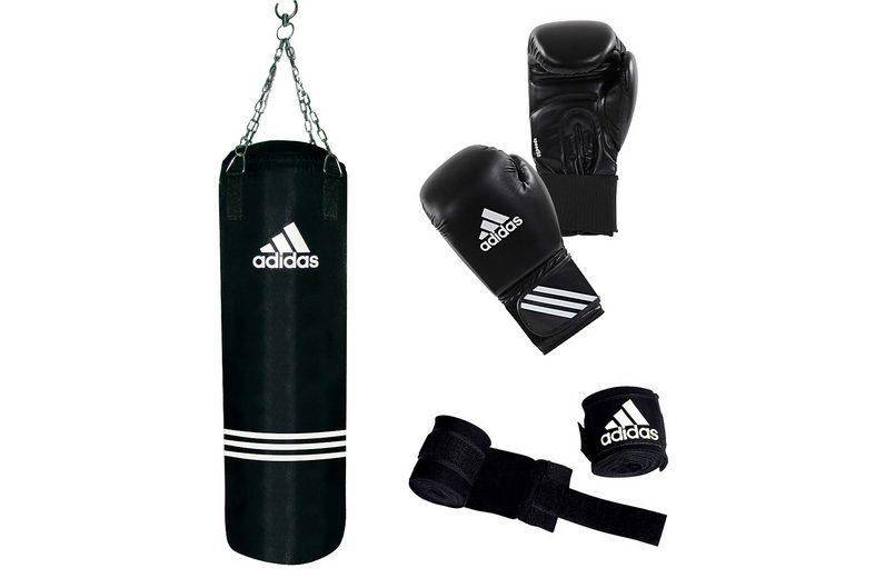 Adidas Performance Set: Boxsack und Boxhandschuhe, »Performance Boxing Set«