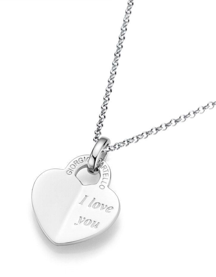 GIORGIO MARTELLO MILANO Kette mit Anhänger, »Herz/I love you« in Silber 925