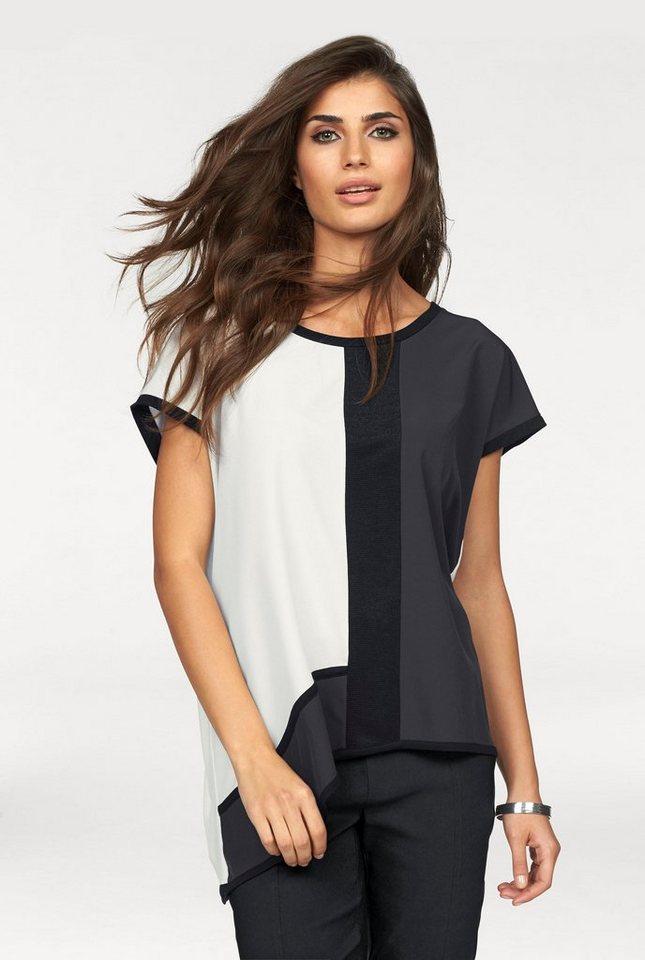 Laura Scott Oversize-Shirt im Materialmix in mehrfarbig