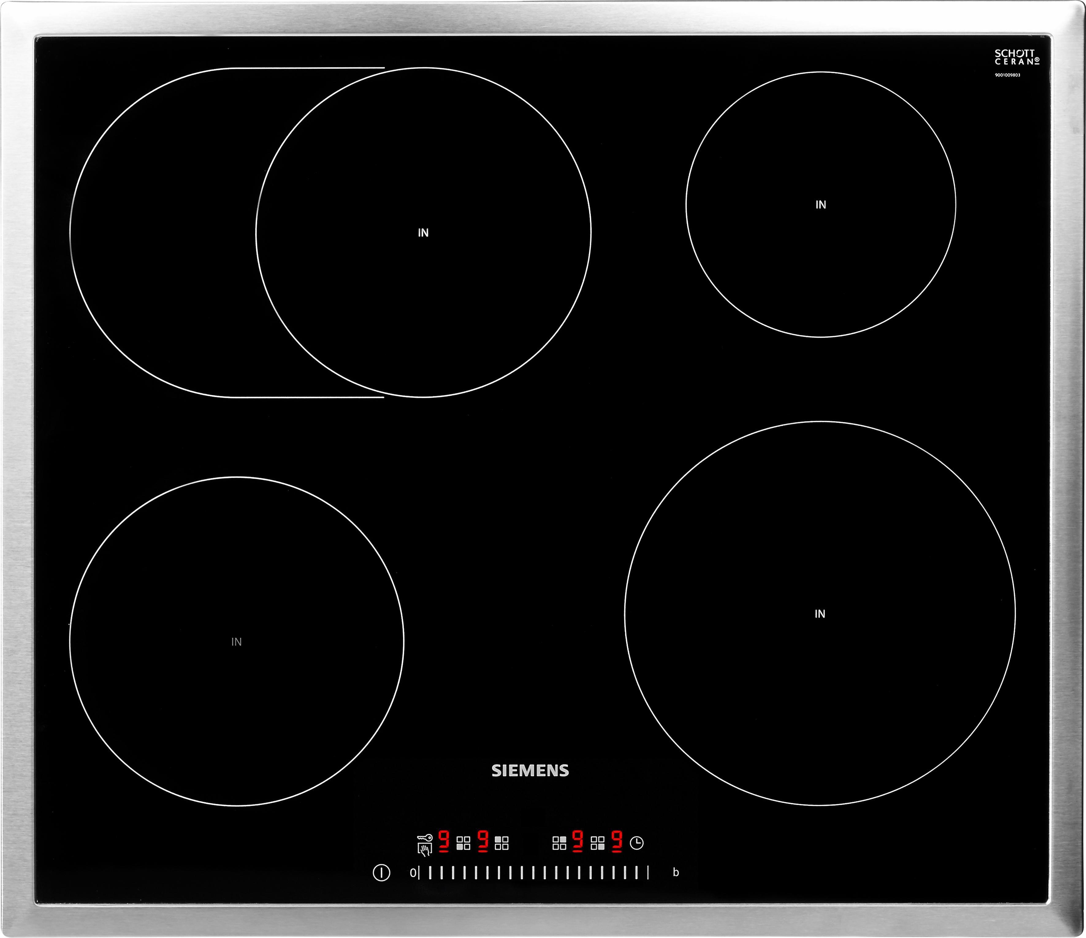 SIEMENS Induktions-Kochfeld von SCHOTT CERAN® EH645FFB1E, mit Energieverbrauchsanzeige