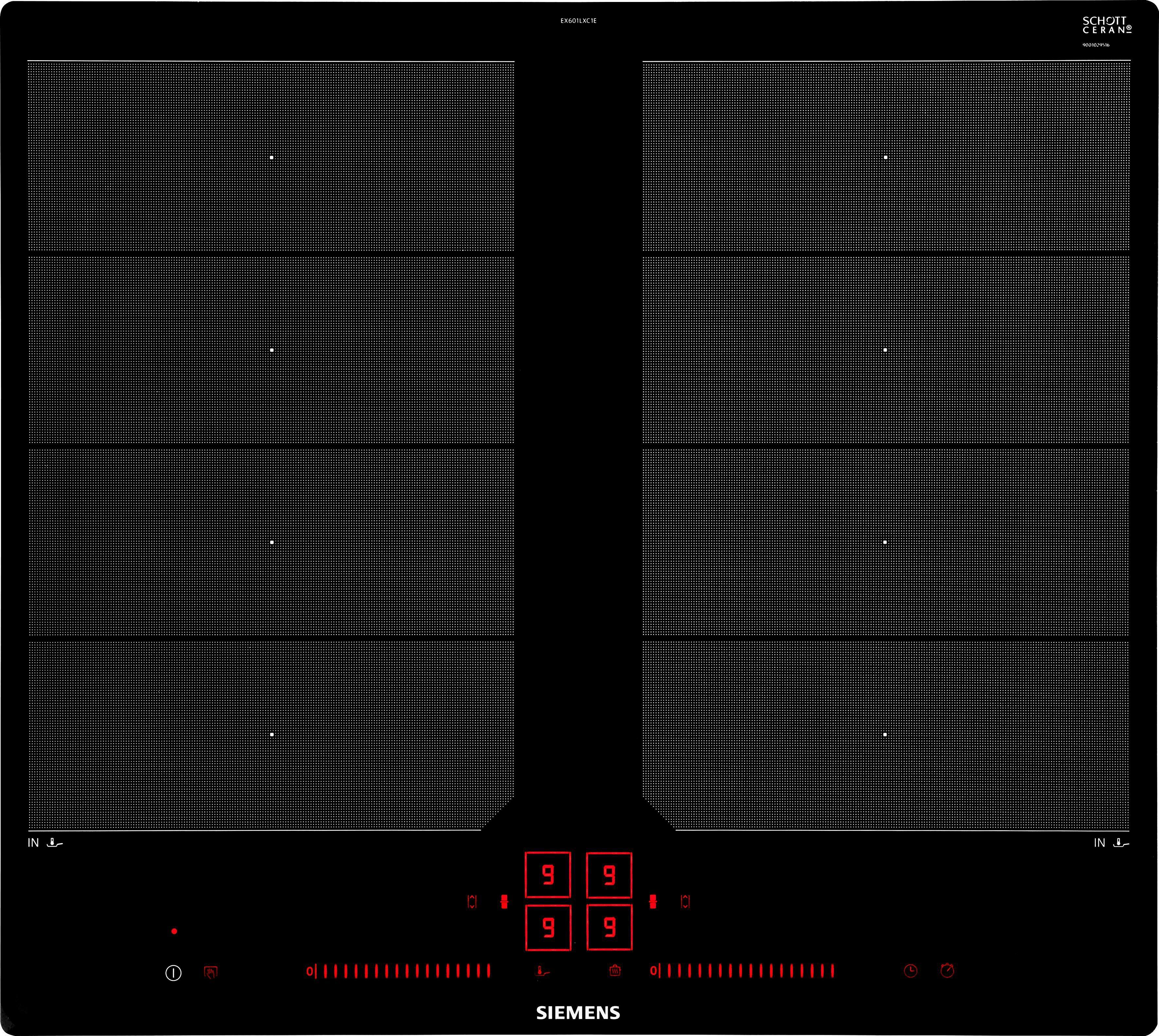 SIEMENS Flex-Induktions-Kochfeld EX601LXC1E, mit powerMove Plus