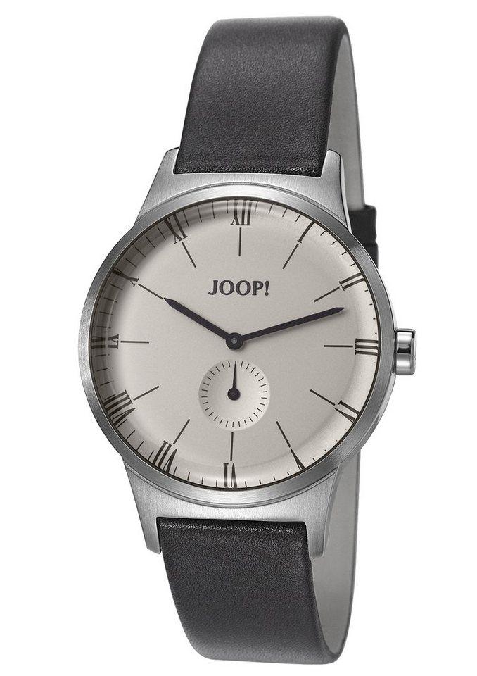 Joop! Jewellery Quarzuhr »JP-JACK SILVER/GREY, JP101741001« kleine Sekunde in grau