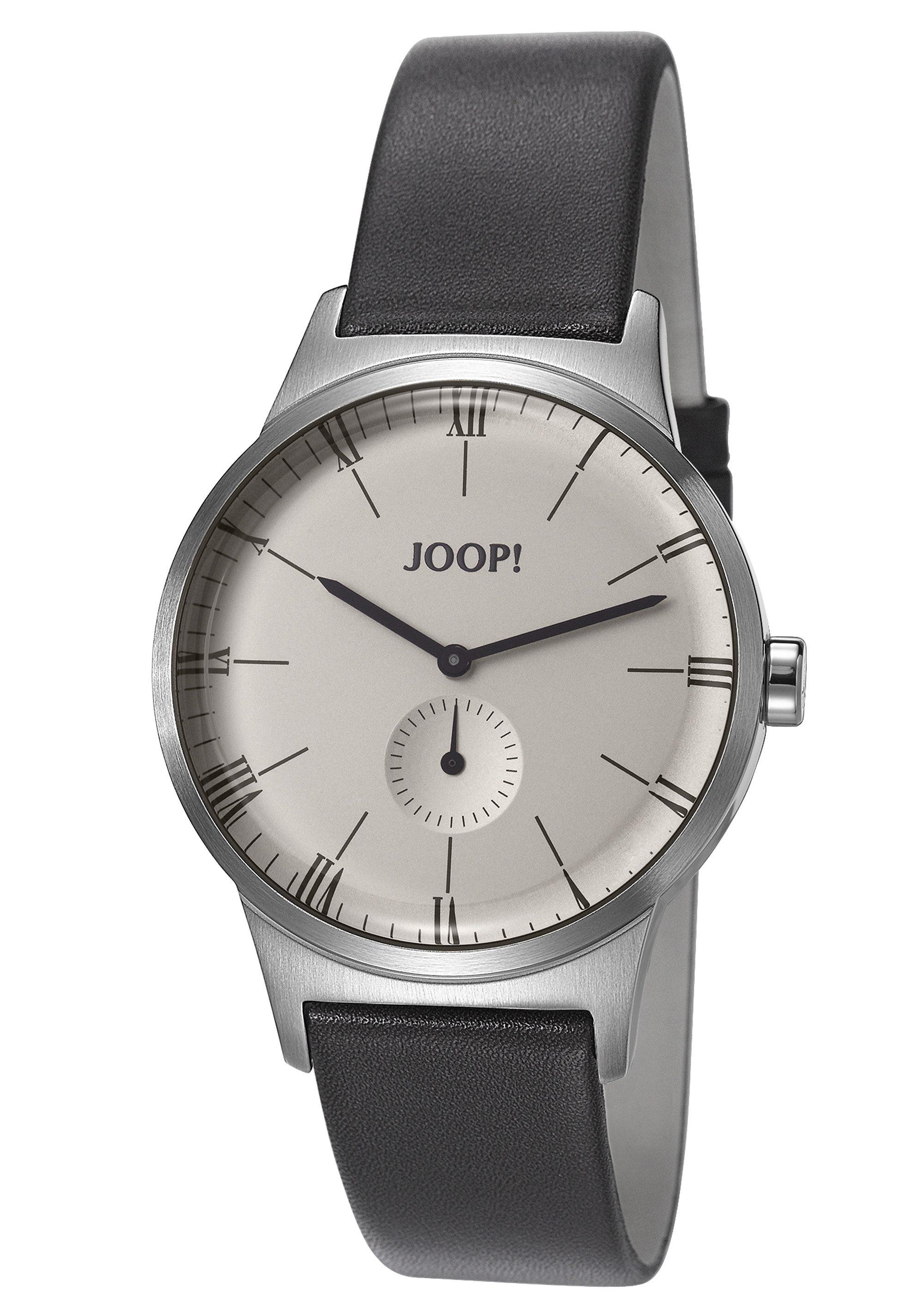 Joop! Jewellery Quarzuhr »JP-JACK SILVER/GREY, JP101741001« kleine Sekunde
