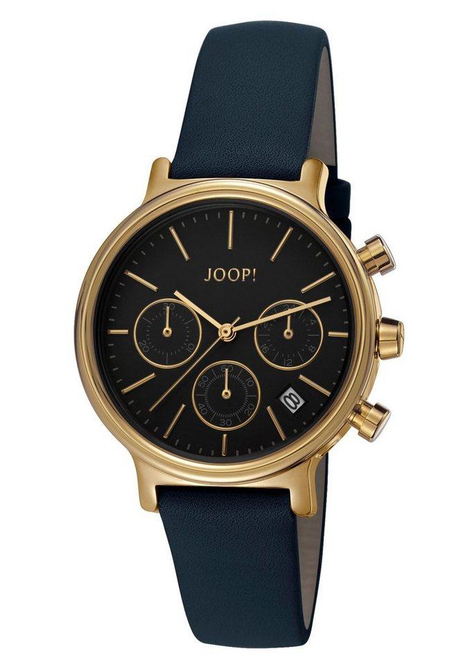 Joop! Jewellery Chronograph »CARLA BLACK/GOLD, JP101502001« in schwarz