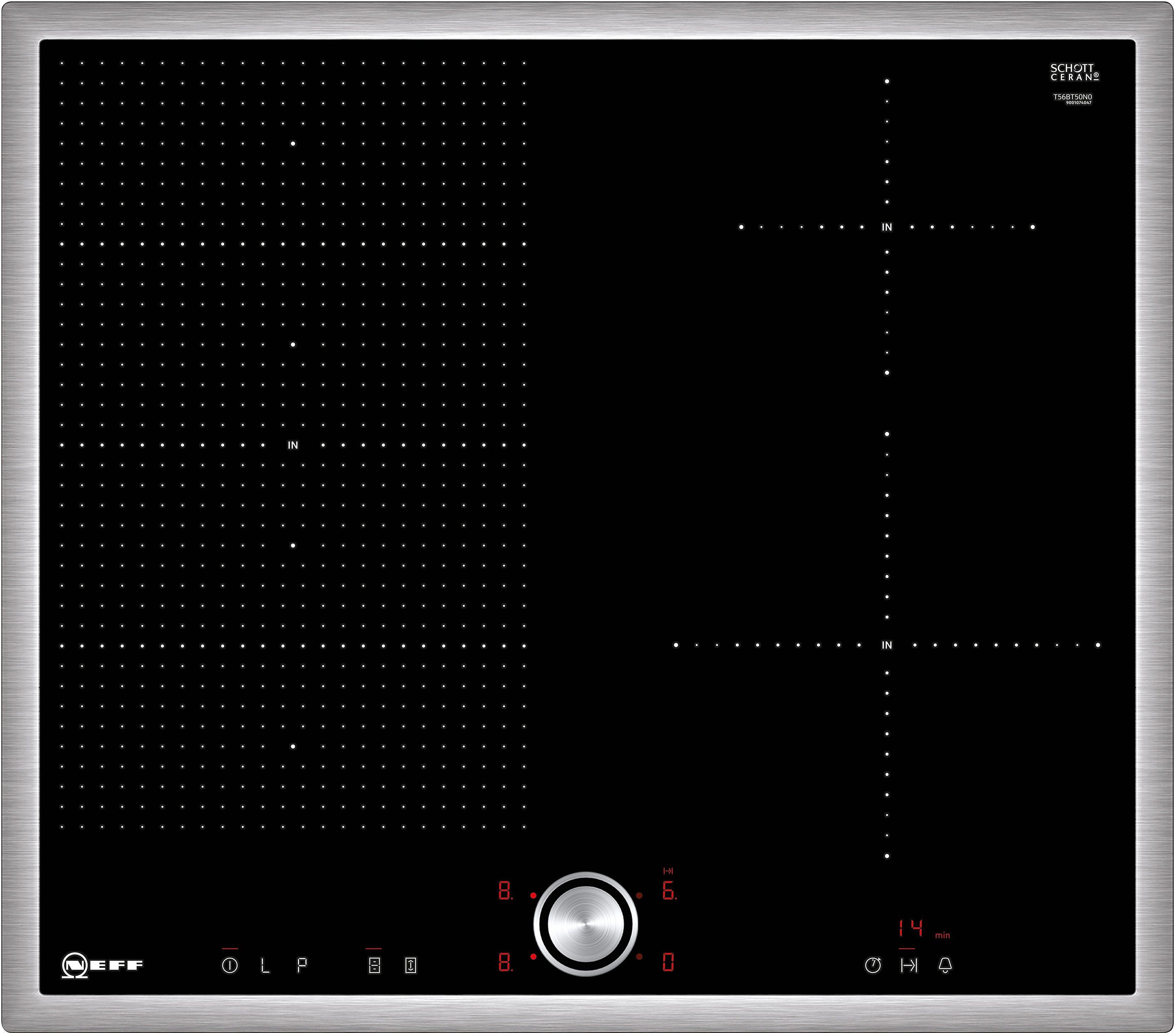 Neff Flex-Induktions-Kochfeld mit TwistPad® Flat Bedienung TBT 5660 N / T56BT50N0
