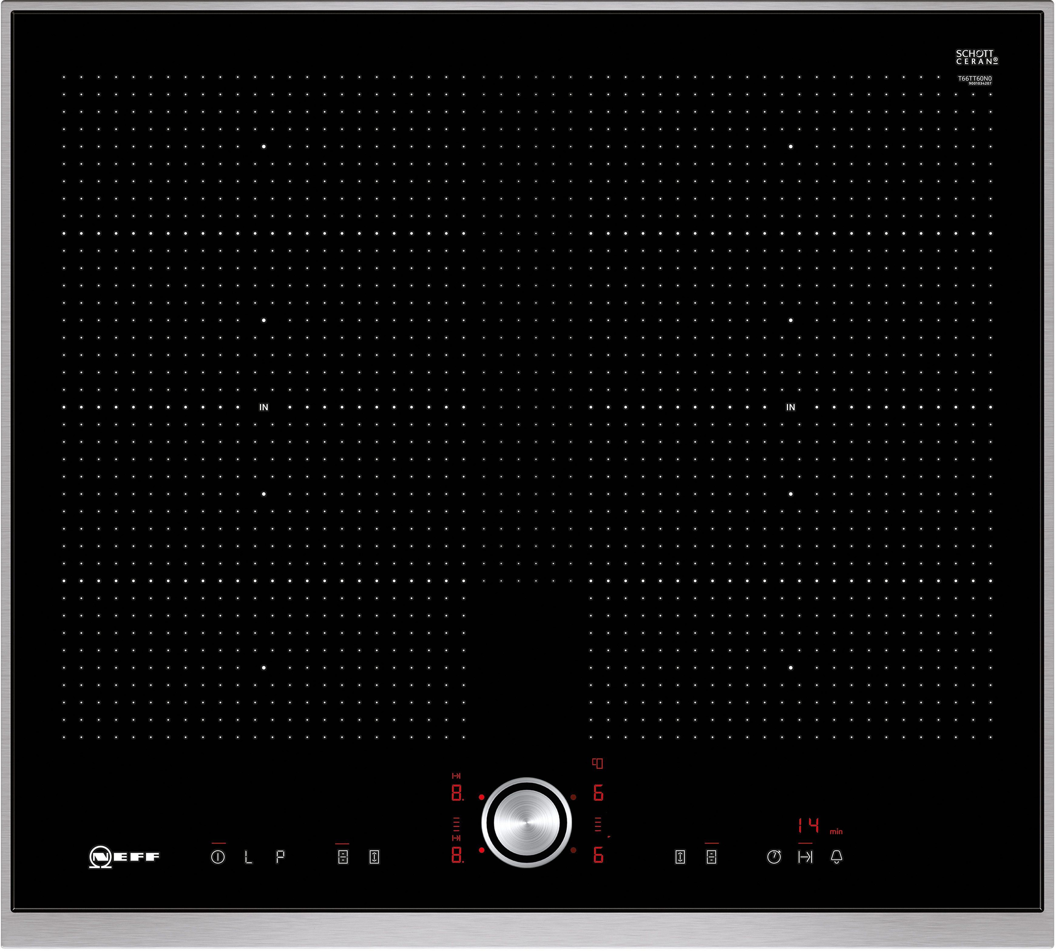Neff Flex-Induktions-Kochfeld mit TwistPad® Flat Bedienung TTT 6660 N / T66TT60N0
