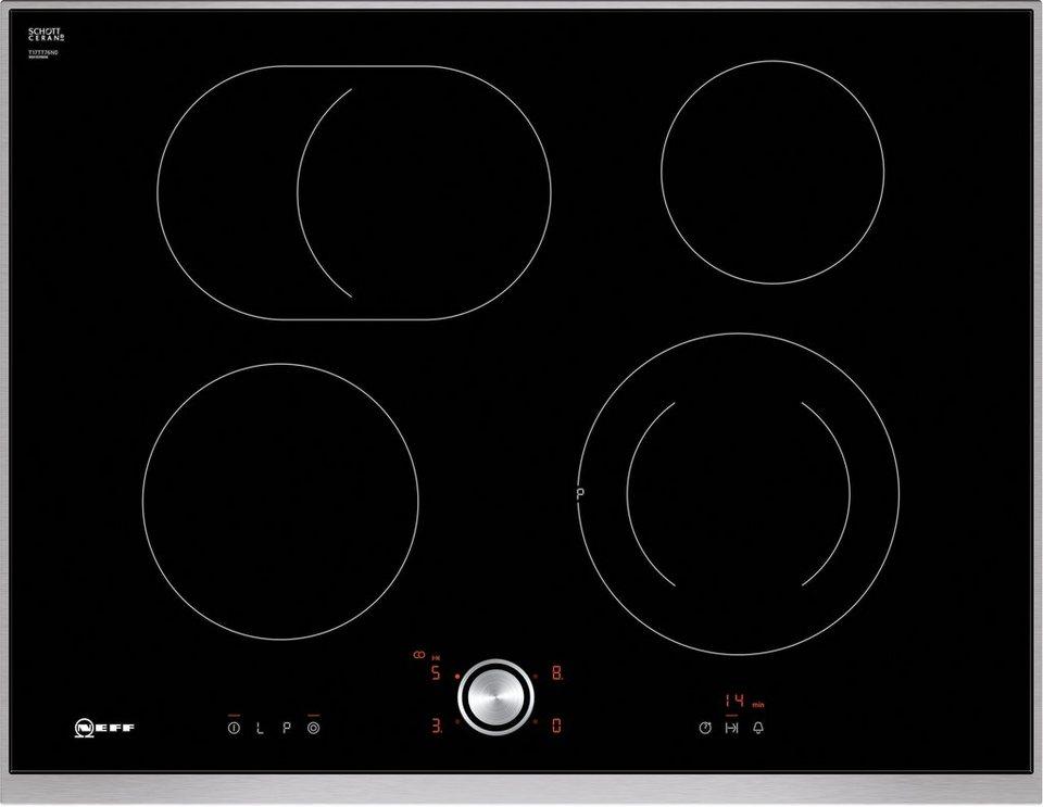 Neff Autarkes Glaskeramik-Kochfeld mit TwistPad® Flat Bedienung TTT 1776 N / T17TT76N0 in Edelstahl