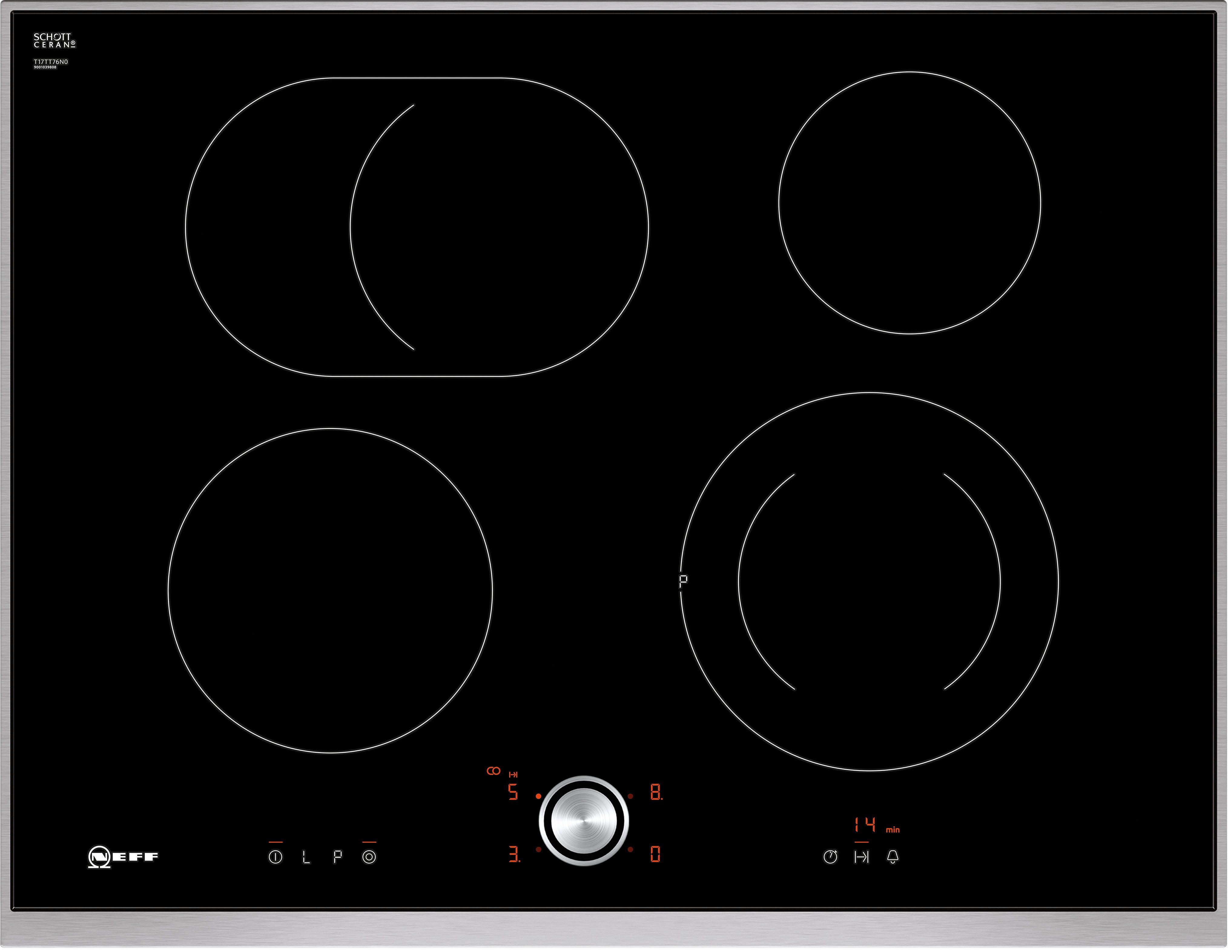 Neff Autarkes Glaskeramik-Kochfeld mit TwistPad® Flat Bedienung TTT 1776 N / T17TT76N0