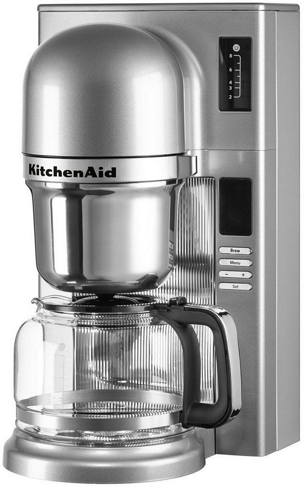 KitchenAid® Filterkaffeemaschine 5KCM0802ECU, kontur-silber in kontur-silber