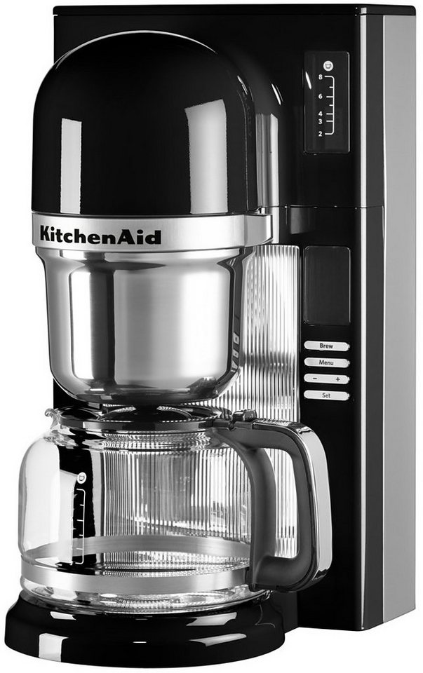 KitchenAid® Filterkaffeemaschine 5KCM0802EOB, onyx schwarz in onyx schwarz