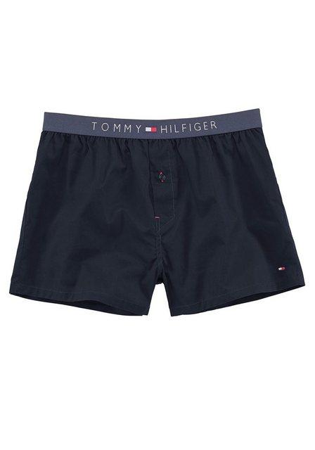 tommy hilfiger -  Webboxer, Boxershorts mit Logo am Bund