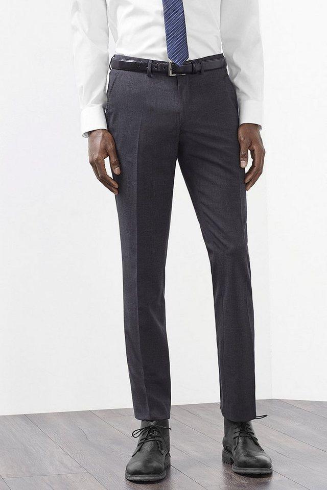 ESPRIT COLLECTION Anzughose aus Schurwoll-Mix mit Stretch in DARK GREY