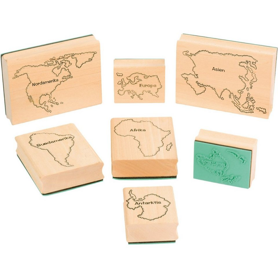 Eduplay Stempel Kontinente, 7 Stück