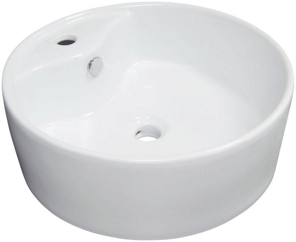 Keramik Aufsatz-Waschbecken / Waschtisch »Tomar« 45 cm in weiß