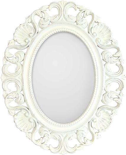 Home affaire Spiegel »Casa Vintage Ornate Oval«, 44/54 cm in weiß