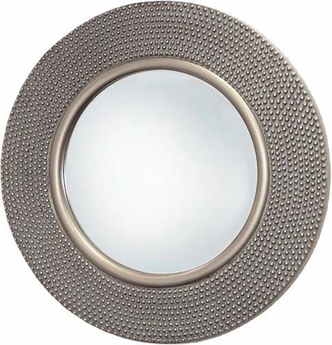 Home affaire Spiegel »Hammered Antique Silver«, Ø 80 cm in silber antik