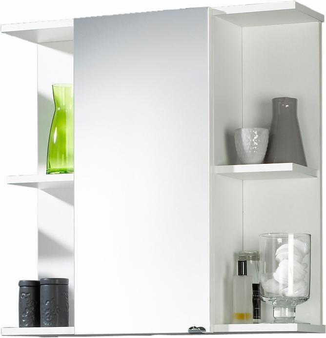 Posseik Spiegelschrank »Antonia« mit 4 offenen Fächern in weiß
