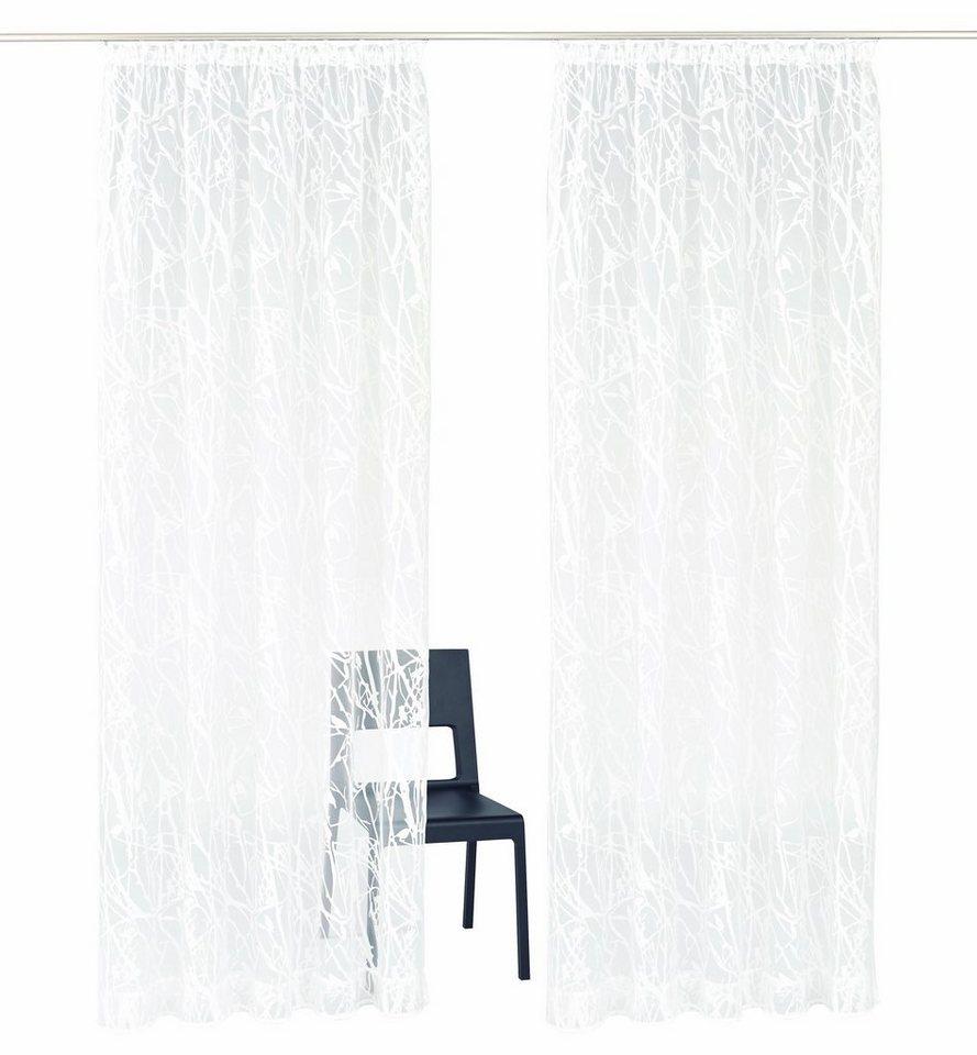 Gardine, My Home, »Sirmione« (2 Stück) in weiß