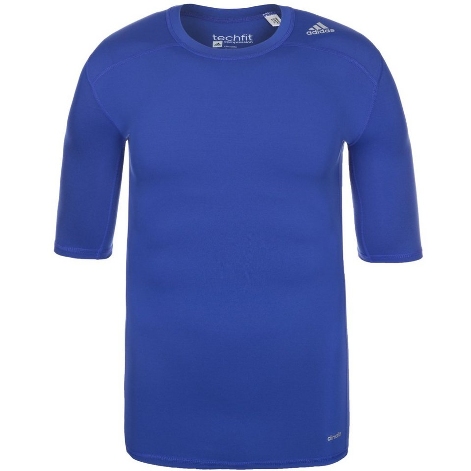 adidas Performance TechFit Base Trainingsshirt Herren in blau