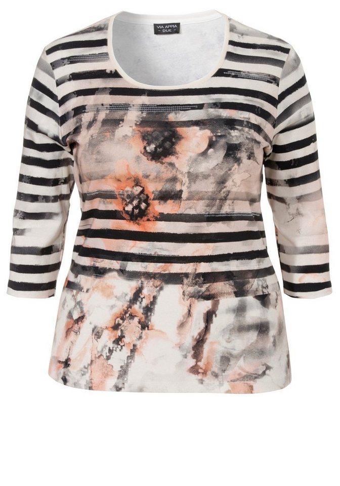 VIA APPIA DUE Baumwoll-Shirt »Luxury Details« in CREME