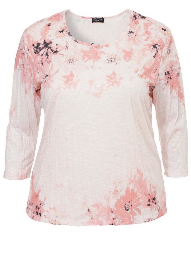 VIA APPIA DUE Shirt »Bloomy Tenderness« in APRICOT MULTICOLOR
