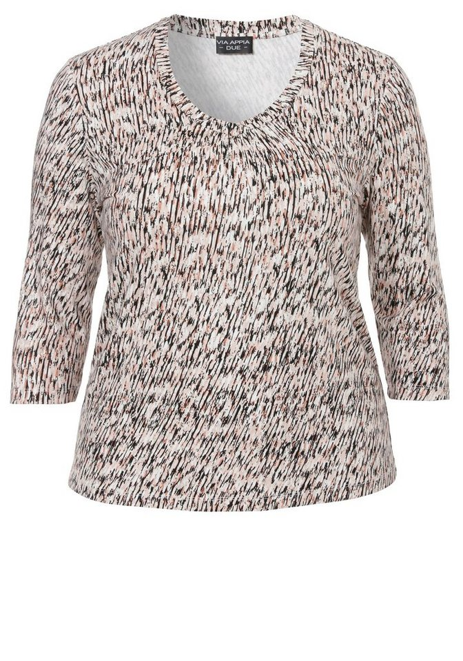 VIA APPIA DUE Jersey-Shirt »Allover-Print« in ROUGE MULTICOLOR