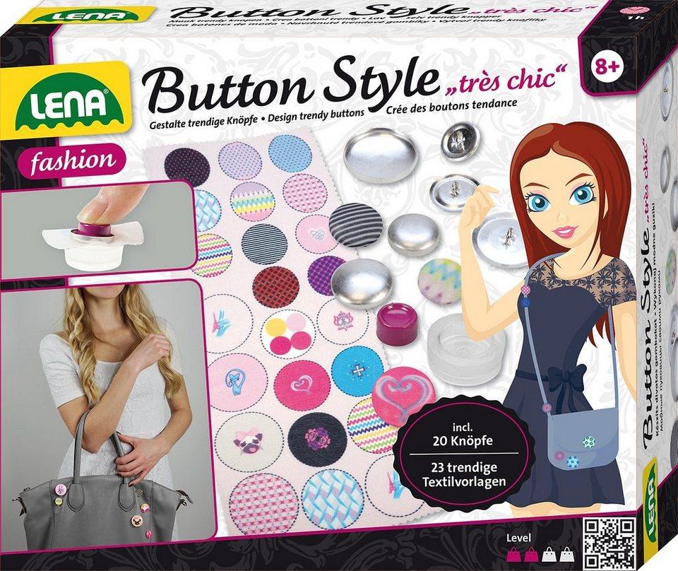LENA® Bastelset, »Button Style très chic«