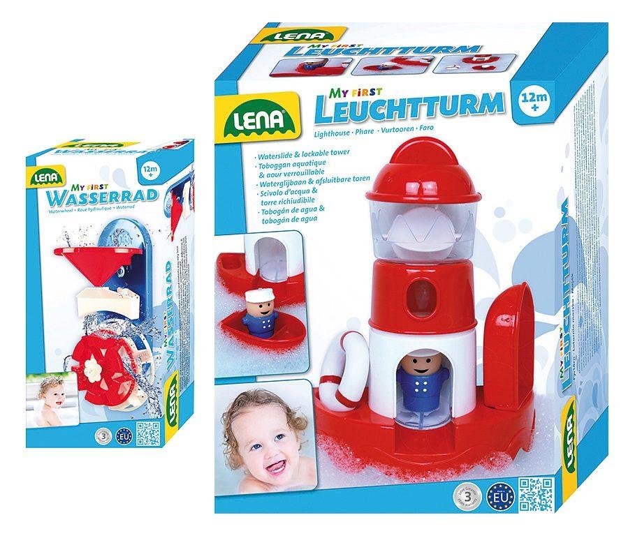 LENA® Wasserspaß-Set, »Leuchtturm und Wasserrad«