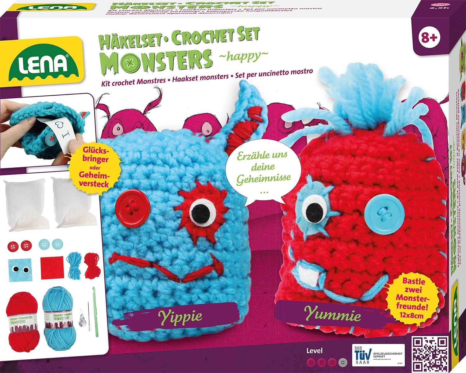 LENA® Häkelset, »Monsters happy«
