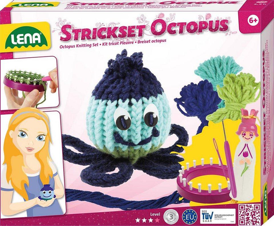 LENA® Handarbeitsset 7-tlg., »Strickset Octopus«