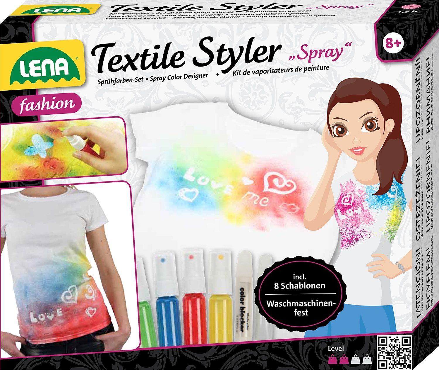 LENA® T-Shirt Design-Set, »Textile Styler Spray«