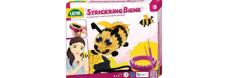 LENA® Strickset 9-tlg., »Strickring Biene«