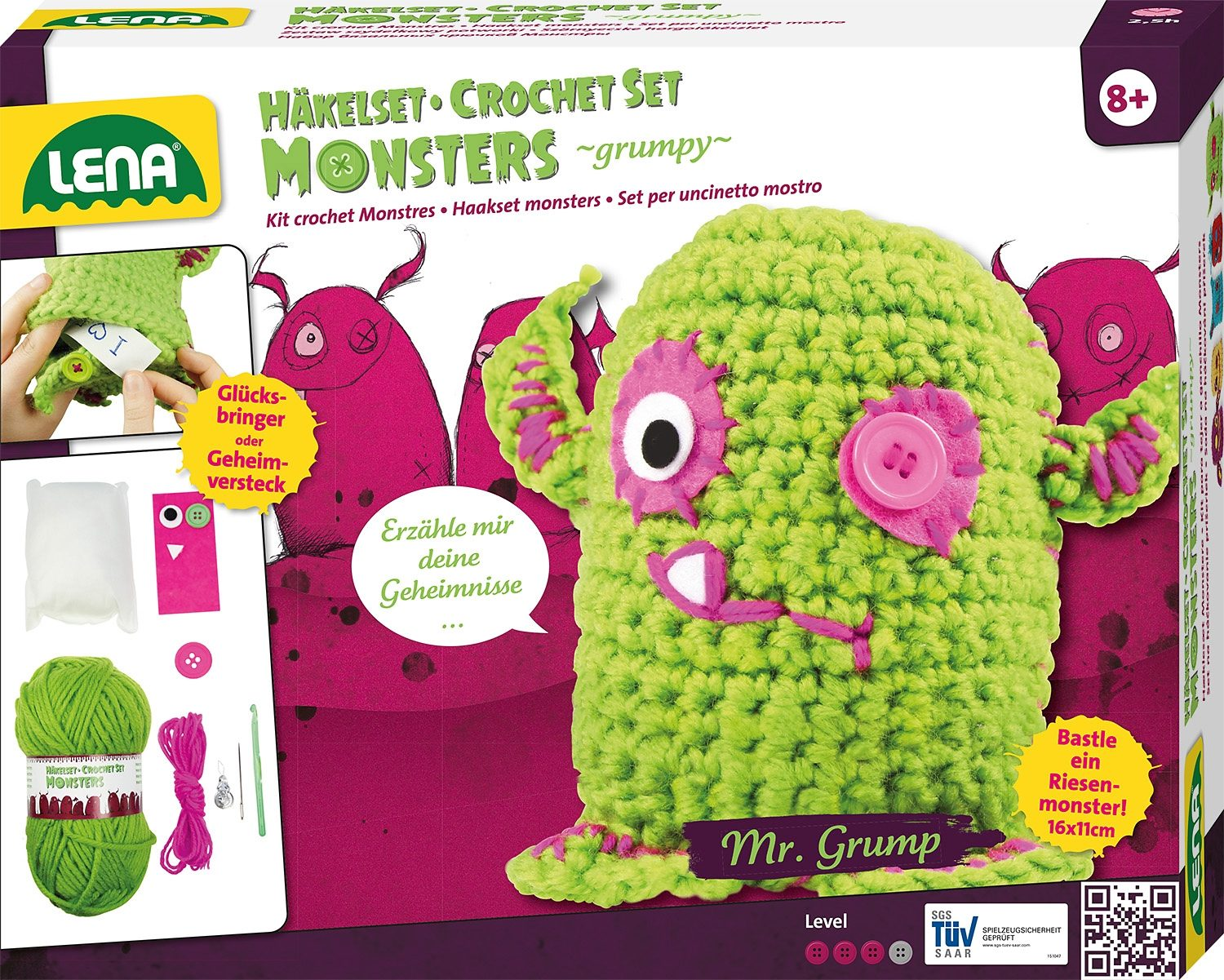 LENA® Häkelset, »Monsters grumpy«