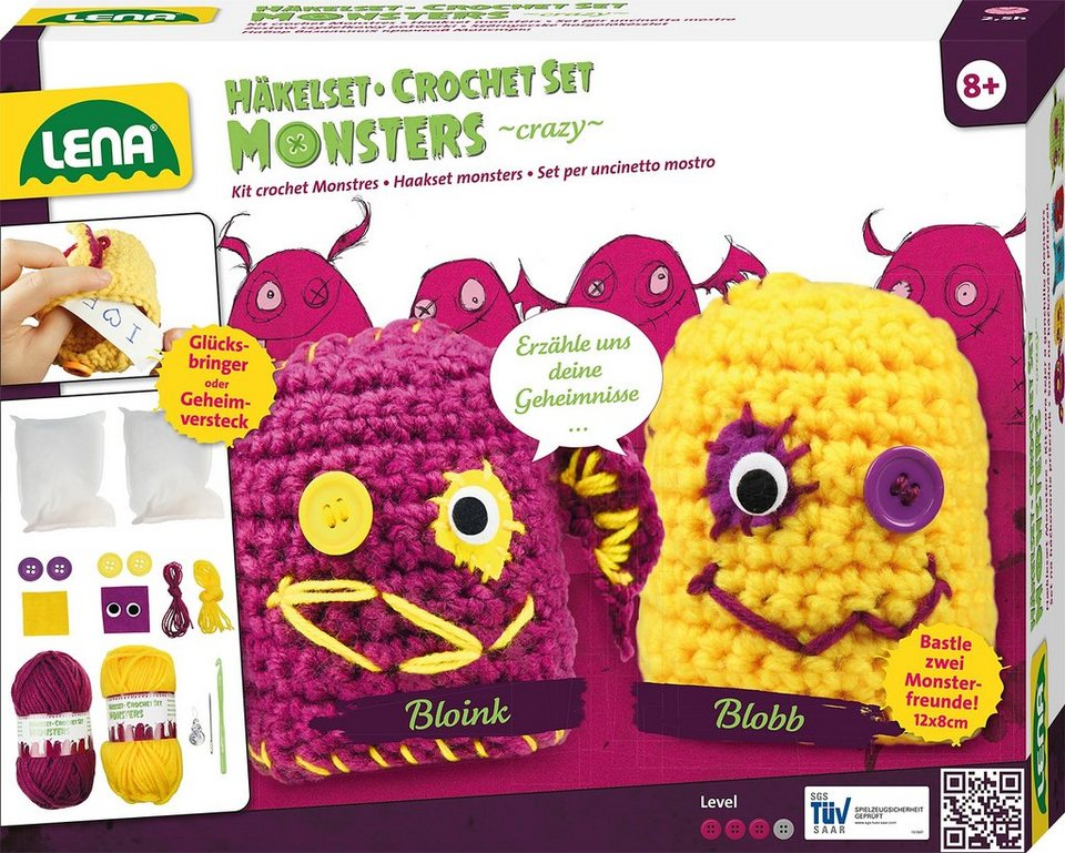 LENA® Häkelset, »Monsters crazy«
