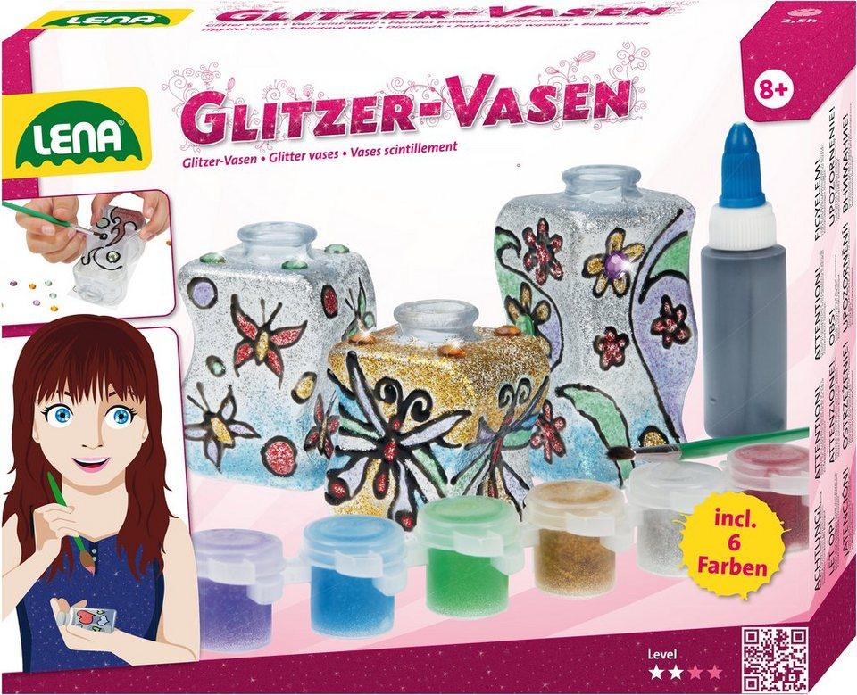 LENA® Glas Kreativset, »Glitzer Vasen«