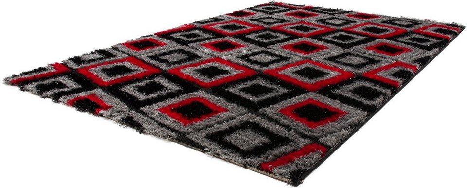 Hochflor-Teppich, Lalee, »Sedef 279«, Höhe 35 mm, gewebt in rot