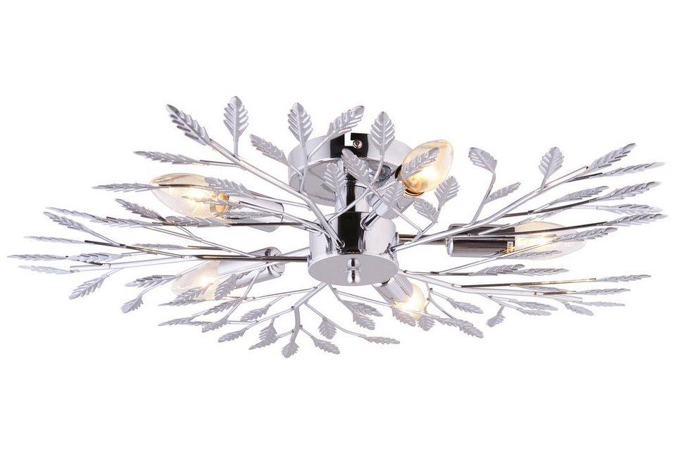 Leuchten Direkt Deckenleuchte, 5flg., »FLORENCE« in Metall, chromfarben