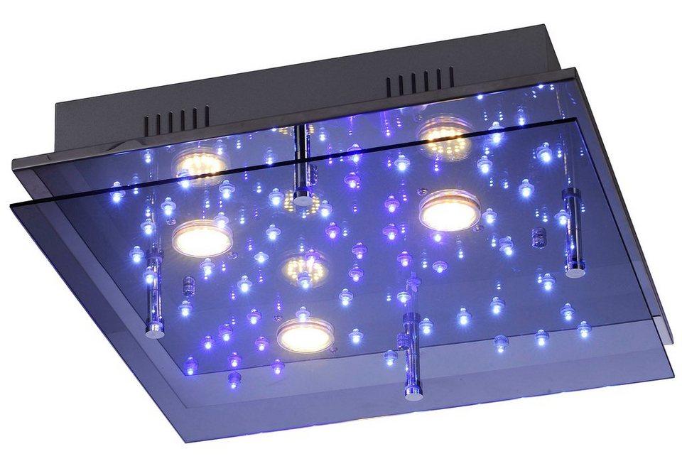 Leuchten Direkt LED-Deckenleuchte, »NIGHTSKY2« in Metall, chromfarben mit Glasschirm