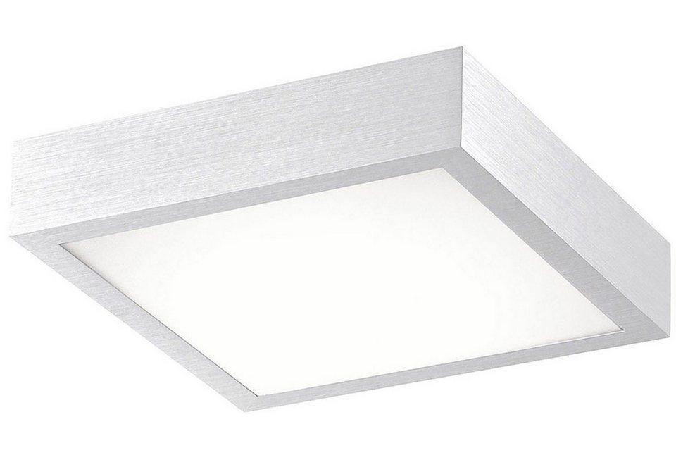 Leuchten Direkt LED-Deckenleuchte, 1flg, »WOLOF« in Aluminium gebürstet