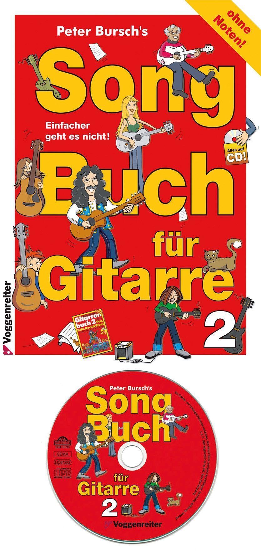 Voggenreiter Gitarre lernen mit Peter Bursch, »Song Buch für Gitarre 2«