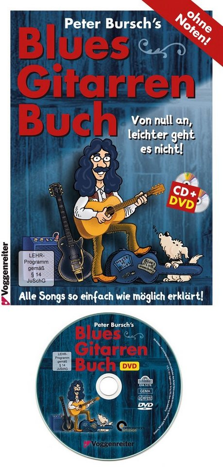Voggenreiter Gitarre lernen mit Peter Bursch,  Blaus-Gitarrenbuch  online kaufen