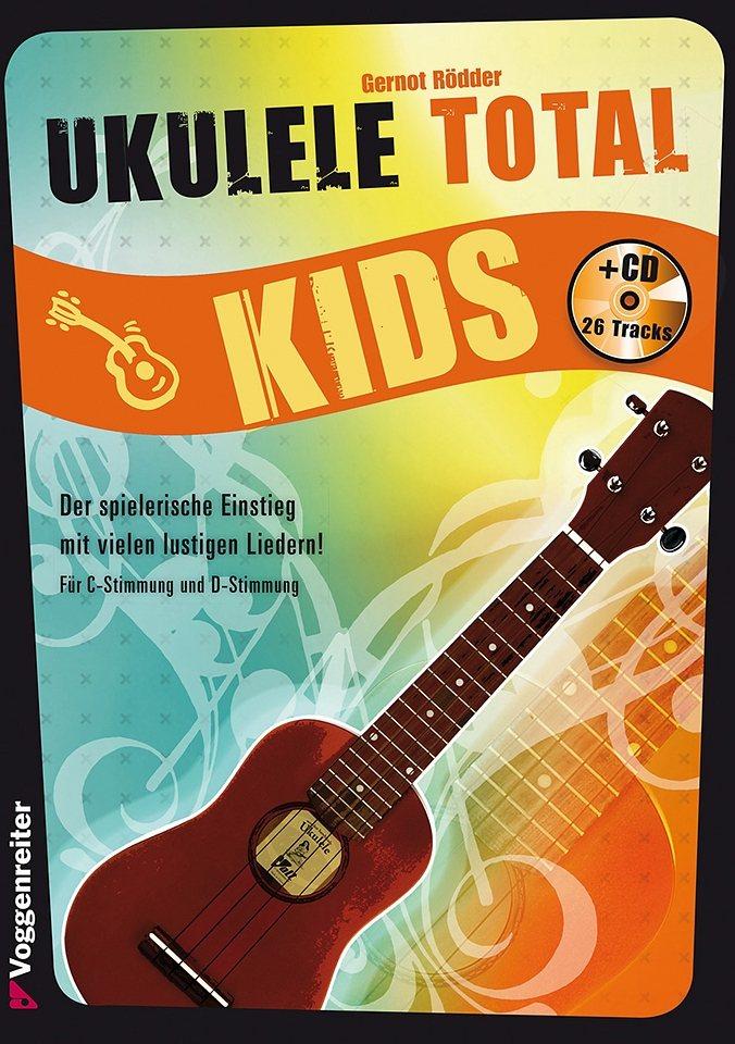Voggenreiter Ukulele Lernbuch, »Ukulele Total Kids« in blau