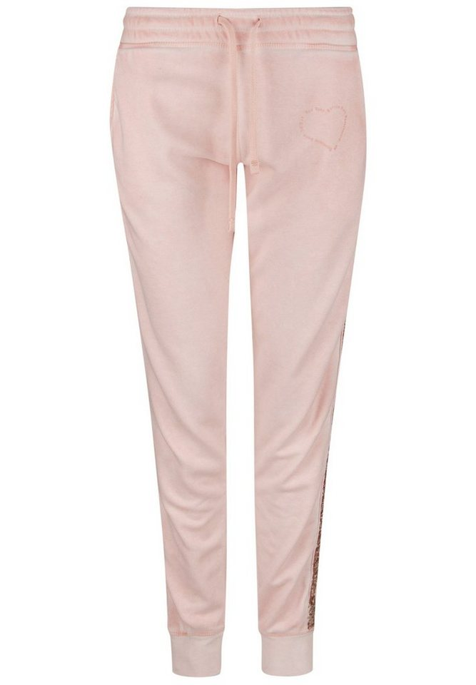 Better Rich Sweathose »PANT HOME PAILLETTE« in nude
