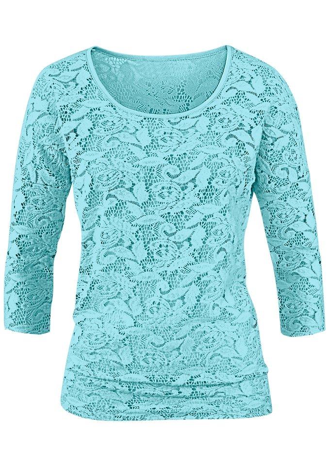 Lady Shirt mit 3/4-Ärmel in aqua